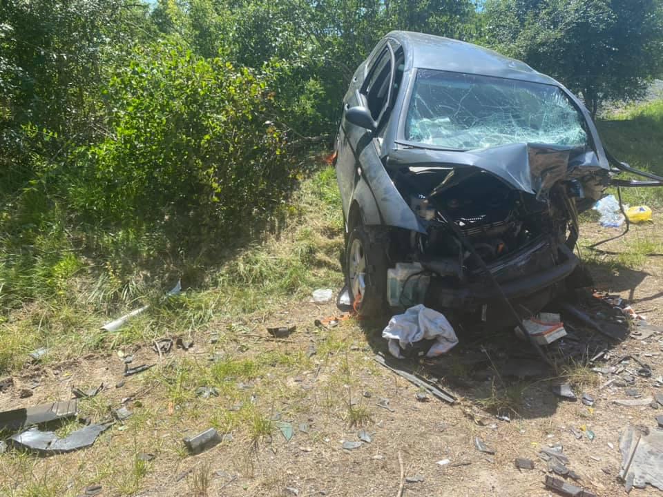 Un des véhicules impliqués dans l'accident frontal